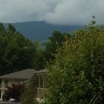 Pool view of the Smokie Mountains!