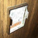 Broken refrigerator handle...sharp edges!