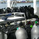 Dive gear all ready to go