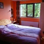 The colourful bedroom