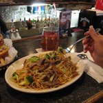 Beef Lo Mein with lots of beef! $ 7.59