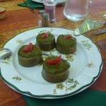Gelatina de verduras con albahaca y tomate!!