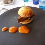 Hamburger with foie gras