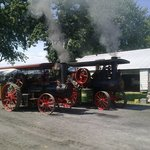 Steam tractors on parade