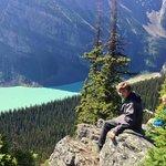 Lake Louise stop at the top: Timberline Horseback ride