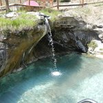 Pool with waterfall from source