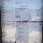 resturant menu - at august 2013