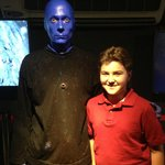 Michael on his 12th Birthday with the Blue Man!