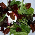 Micro greens salad candied pecans
