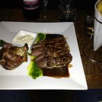 Rib Eye Steak and Parmesan Onion