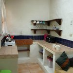 The kitchenette in our casita - could easily have stayed 3 nights