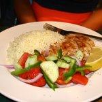 Grilled Chicken w/ Rice & Salad