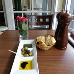 excellent olives and fresh bread