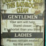 Above the toilet in the Slow Groov'n BBQ Restaurant. lol