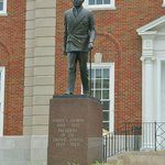 Statue of Trumean in front of Court House.