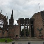 The bombed-out old cathedral and the new in Coventry