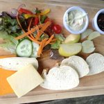 """ploughman's with """"chunky"""" bread"""
