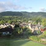 View over Pitlochry from the dining room on a sunny morning