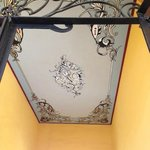 Just one of the many beautifully restored ceilings in the hotel.