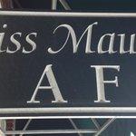 Miss Maude's cafe sign on Main Street