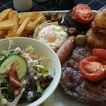 mixed grill in restaurant priced at 15.99 it was amazing!!
