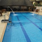 Swimming pool towards restaurant