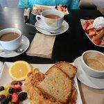 Breakfast - lovely fresh fruit on every plate!