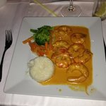 prawns in champagne sauce.