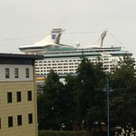 Blown up view of cruise ship!