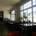 La sala colazioni/reception open space