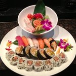 sushi and sashimi dinner