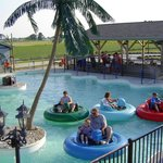 Water squirting bumper boats!