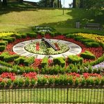 The Floral Clock in Pannet Park opposite the Florence