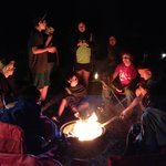 Campfire fun at our group site!