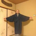 Tim in full kimono