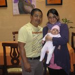 Hotel owner Luis with wife Maria and baby Nazarena