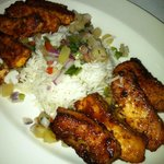 Grilled salmon appetizer