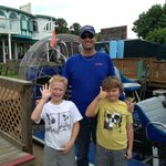 Captain Josh and our 8 year old twin boys (Sam & Josh)