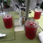 The raspberry iced tea
