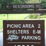 Signage re Rock Creek Regional Park/Lake Needwood