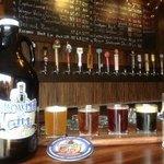 Growler and flight of beers