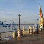 Mekong River near hotel