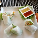 Thai style spring rolls - delicious!