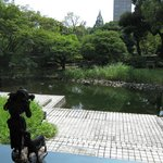 A garden in the hotel's backyard. I believe it is part of the Waseda University campus.