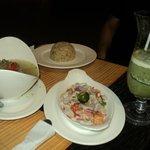 Kalikaf food and Malunggay Shake