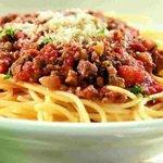 Ein teller spagetti fur 5 $