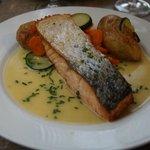 saumon parfaitement cuit!!!