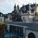Le Château de Loches depuis notre chambre