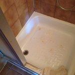 old eroded shower