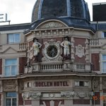 The Clock on the hotel opposite (NH Doener)